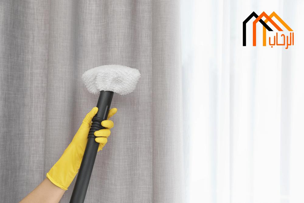 كيفية تنظيف الستائر